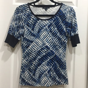 Tommy Hilfiger Abstract Geo Print Shirt (Blue/WT)